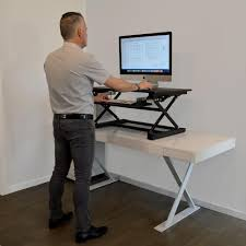 Build Your Own Stand Up Desk The Easiest And Cheapest Way To Get by Desks Home Office Furniture The Home Depot