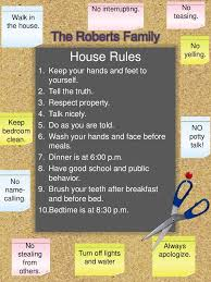 Family House Rules by House Rules By The Mommy Blog