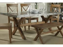 liberty furniture keaton rectangle trestle dining table with metal
