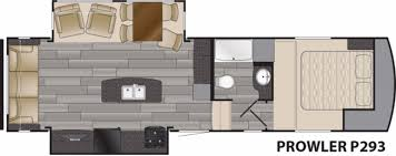 prowler camper floor plans heartland prowler p293 rvs for sale camping world rv sales