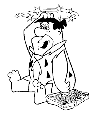 dizzy fred flintstones coloring pages cartoon coloring pages