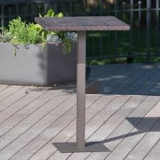 Outdoor Bar Table And Stools Bar Height Patio Tables You Ll Wayfair