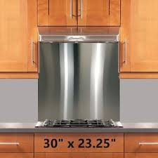 kitchen stove backsplash range stove backsplash 30x23 25in stainless steel wall shield