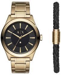 gold armani bracelet images Armani exchange a x men 39 s nico diamond accent gold tone bracelet tif