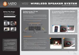 vizio home theater systems vizio speaker system wss1a user guide manualsonline com