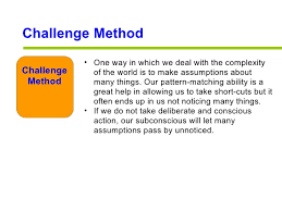 Challenge Method Managing Creativity