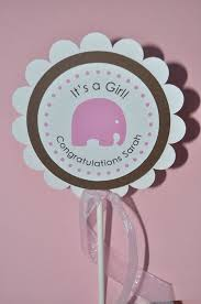 baby shower cake toppers girl girl baby shower cake topper elephant theme personalized baby