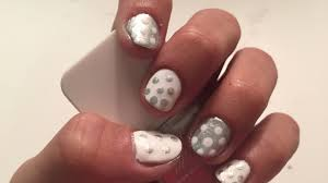 white u0026 silver dotticure awesome nail art on short ugly nails