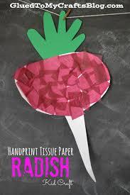 handprint tissue paper carrot kid craft tissue paper crafts
