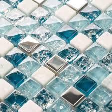 Top  Best Glass Tiles Ideas On Pinterest Back Splashes Glass - Blue glass tile backsplash
