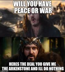 Hobbit Meme - hobbit war imgflip