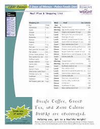 paleo diet menu plan 2 days 1200 calories with shopping list 2