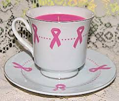 tea cup candle pink ribbon breast cancer awareness tea cup candle roses and teacups