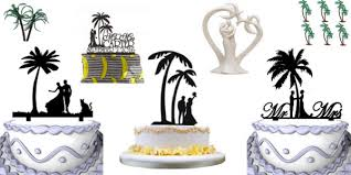 best cake toppers best palm tree wedding cake toppers beachfront decor