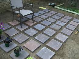 Backyard Patio Pavers Build Your Own Concrete Patio Beautiful Outdoor Diy Throughout