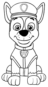 paw patrol chase coloring pages coloringstar