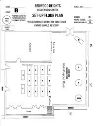 Community Center Floor Plans by Redwood Heights Recreation Center Recreation Centers And