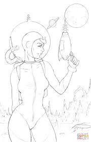 pin up space coloring page free printable coloring pages
