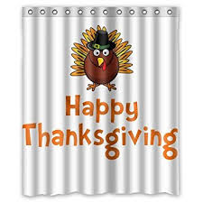 custom thanksgiving turkey shower curtain 60 x 72