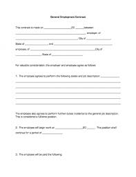 general employment contract business forms