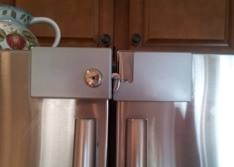 Extra Security Locks For French Doors - refrigerator lock