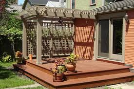 Large Pergola Designs by Deck With Pergola Plans Deck Design And Ideas