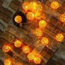 Rattan Star String Lights by 9 Colors Connectable Led Christmas Lights Indoor Outdoor