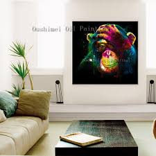 aliexpress com buy new hand painted oil painting monkey hang
