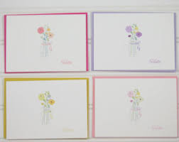 floral note cards etsy