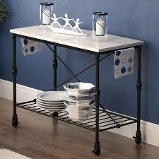 iron kitchen island latitude run kitchen island with metal open shelf reviews wayfair