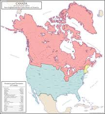 New England On Map United States Of America And Canada Map North Dakota Studies