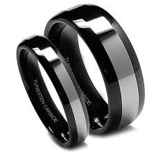 black wedding band black wedding band wedding rings set for him and black