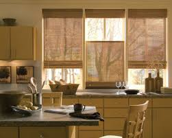 beautiful kitchen curtains window treatments with rattan material