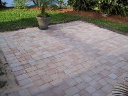 cobblestone patio pavers mesh patio design ideas