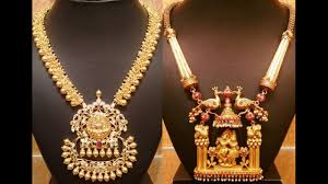 south indian jewellery antique gold necklace designs
