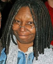 whoopi goldberg chooses to shave her eyebrows and people are