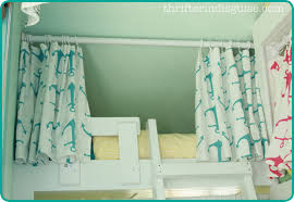 a thrifter in disguise easy sew diy bunk bed curtains