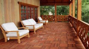 modern tiled deck