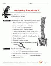 discovering prepositions 5 teachervision