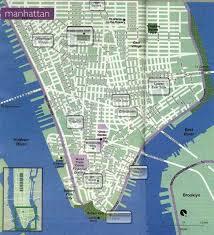 downtown manhattan map plan map et cartes de york city
