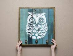 Owl Home Decor Wood Owl Hooks Set Of 2 Owl Woods And Nursery