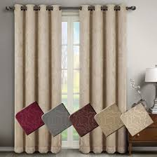 Burgundy Curtain Panels Virginia Leafy Blackout Grommet Curtain Panels Set Of 2