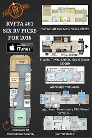 six rv picks for 2016 floor plan infographic from rv family travel