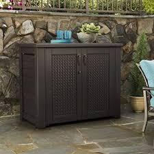 amazon com rubbermaid patio chic cabinet garden u0026 outdoor