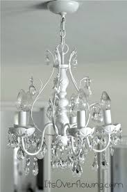 Painted Chandelier Chandelier Makeover Its Overflowing