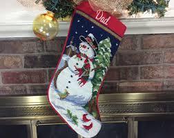 personalized needlepoint christmas needlepoint christmas personalized santa nutcracker