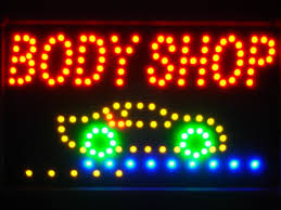 led lights for body shop body shop car led neon light sign led046 r 79 95 shacksign