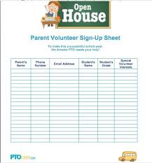 Volunteer Sign Up Sheet Template Free Sign Up Sheet Clipart 69
