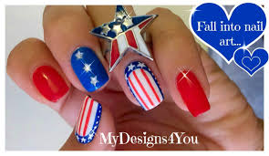 4th of july nail art independence day nails youtube