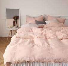 natural linen comforter pink sheets bedrooms room and interiors